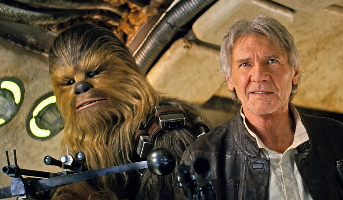 The Force Awakens Han and Chewie